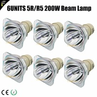 6pcs/bulk OEM MSD 5R 200w Moving Beam Lamp for Stage Disco Light Stage Moving Lighting R5 Platinum 200 Lamping Replace MSD Lamp