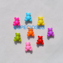 50pcs DIY Cute Jewelry Making Accessories Cartoon Bear Acrylic Beads Mix Color Children Handcraft Department Plastic Fittings(China)