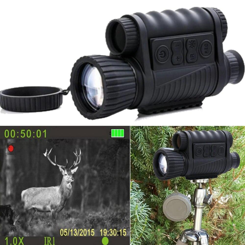 6x50mm HD Digital Hunting Night Vision Monocular Goggles GPS LCD Infrared IR Telescope 5mp Scope Night Riflescope Night Sights