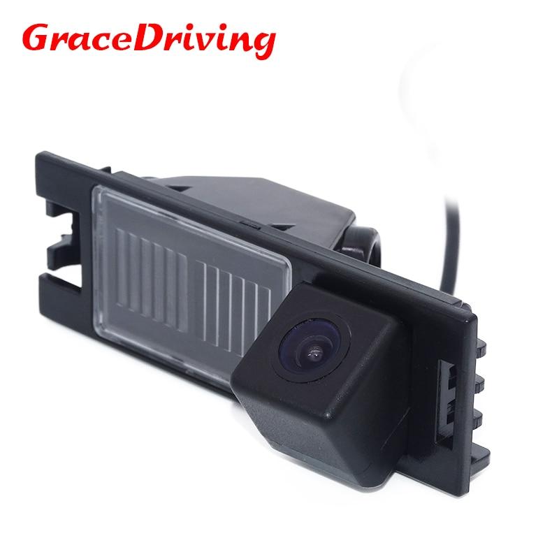 Biztonsági másolat CCD fordított kamera nagyfelbontású parkolás NTSC széles látószögű vízálló kamera Hyundai IX35 2010-hez 2012 Tucson autós GPS Navi