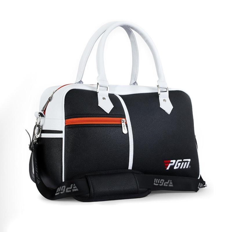 Prix pour PGM Marque Sac De Golf Vêtements De Golf Sac Hommes et Femmes Boîte D'emballage De chaussures en forme de Sac de Grande Capacité Double-pont Vêtements Sac 3 couleurs