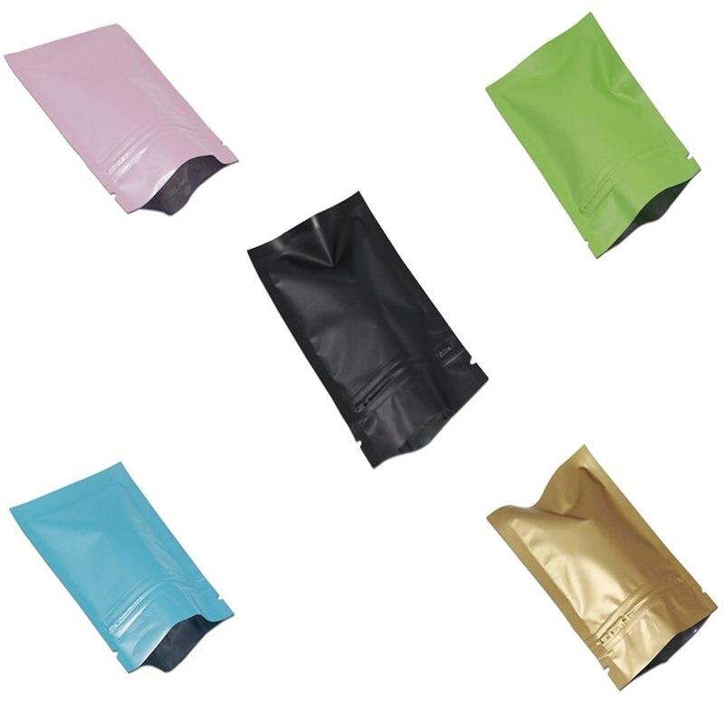 Prix de gros coloré Mylar feuille Ziplock sacs rescellable épices thé café poche de stockage en aluminium feuille Ziplock sac d'emballage
