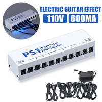 10 Isolated Guitar Effect Pedals Show for Stage Tool Shunt Output Power Supply for Music Adapter Band
