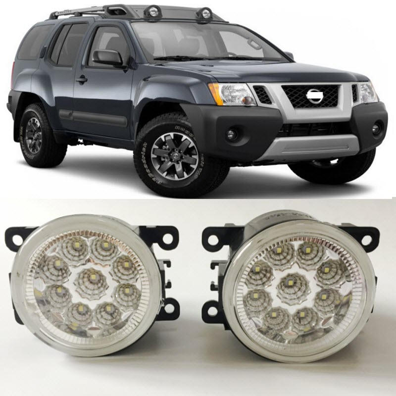 Car Styling For Nissan Xterra 2005-2015 9-Pieces Leds Chips LED Fog Light Lamp H11 H8 12V 55W Halogen Fog Lights real time video output fpv image transmission av cable for gopro2 gopro3 black red