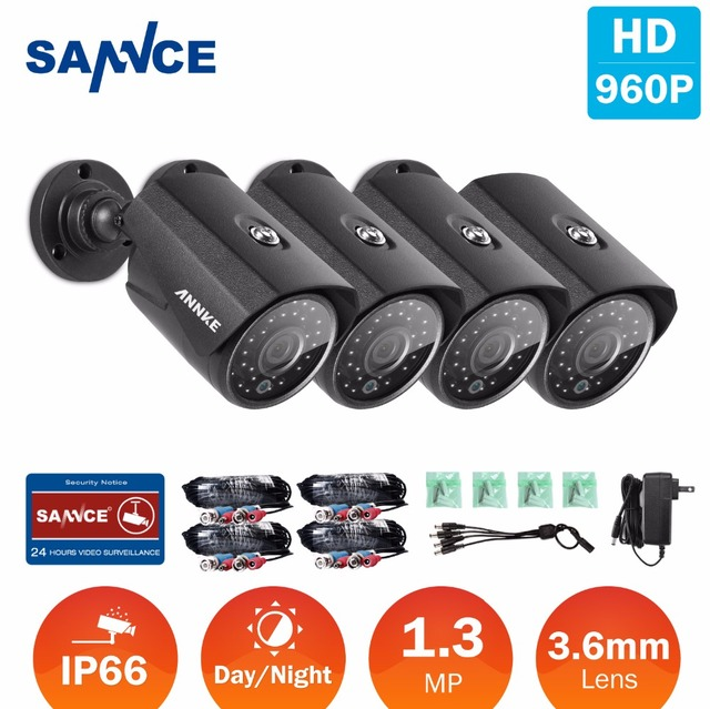 ANNKE 8CH 960P AHD DVR Video 8 PCS 1.0MP CCTV Home Security Cameras  HD Outdoor IR Night Vision Surveillance System Kit