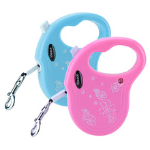 3M Retractable Dog Leash Traction Rope Pet Dog/Cat Puppy Walking Leash Lead Perfect for  small and medium pets Blue/Pink