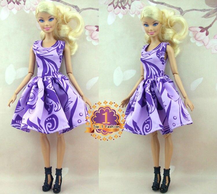 Usine en gros 50 ou 100 pcs / lot Mini robe jupe de mode pour poupée - Poupées et accessoires - Photo 3