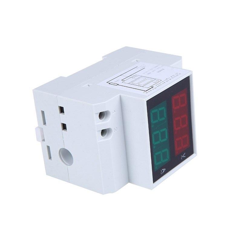 AC80-300V 0.2-99.9A Digital Din-rail Voltmeter / Ammeter Dual Display voltimetro diagnostic-tool Tester  LED Voltage power bank