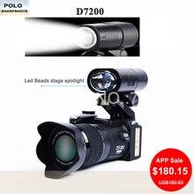 PROTAX D7200 digital cameras 33MP Expert DSLR cameras 24X Telephotos Lens & 8X Digital zoom Big Angle Lens LED Spotlight