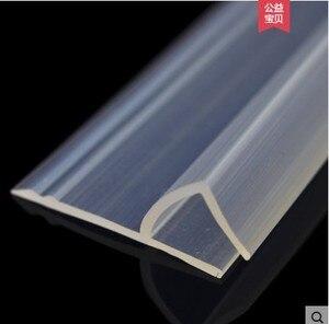 Image 1 - 2 מטרים\חבילה התרחב F/h צורת סיליקון גומי מקלחת חדר דלת חלון זכוכית חותם רצועת weatherstrip עבור 6/ 8/10/12mm זכוכית
