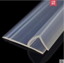 Burlete de sellado de vidrio para ducha, 2 metros/lote, ancho en forma de F/h, goma de silicona, para habitación o ventana, para vidrio de 6/8/10/12mm