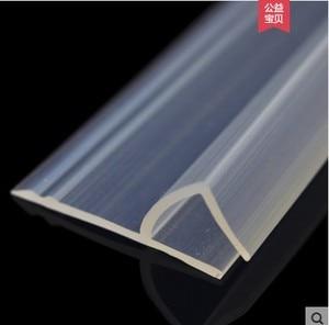 Image 1 - Расширенная F/h форма из силиконовой резины для душа для дверей и окон в комнате, уплотнительная лента для стекла 6/8/10/12 мм, 2 м/лот