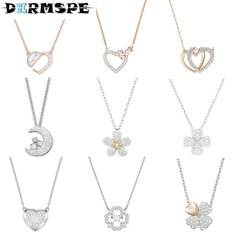 DERMSPE 2017 New Autumn Winter Long Jumper Sweater Chain Korean Neck Necklace Necklace Sweater Accessories Pendant snowflake long sweater