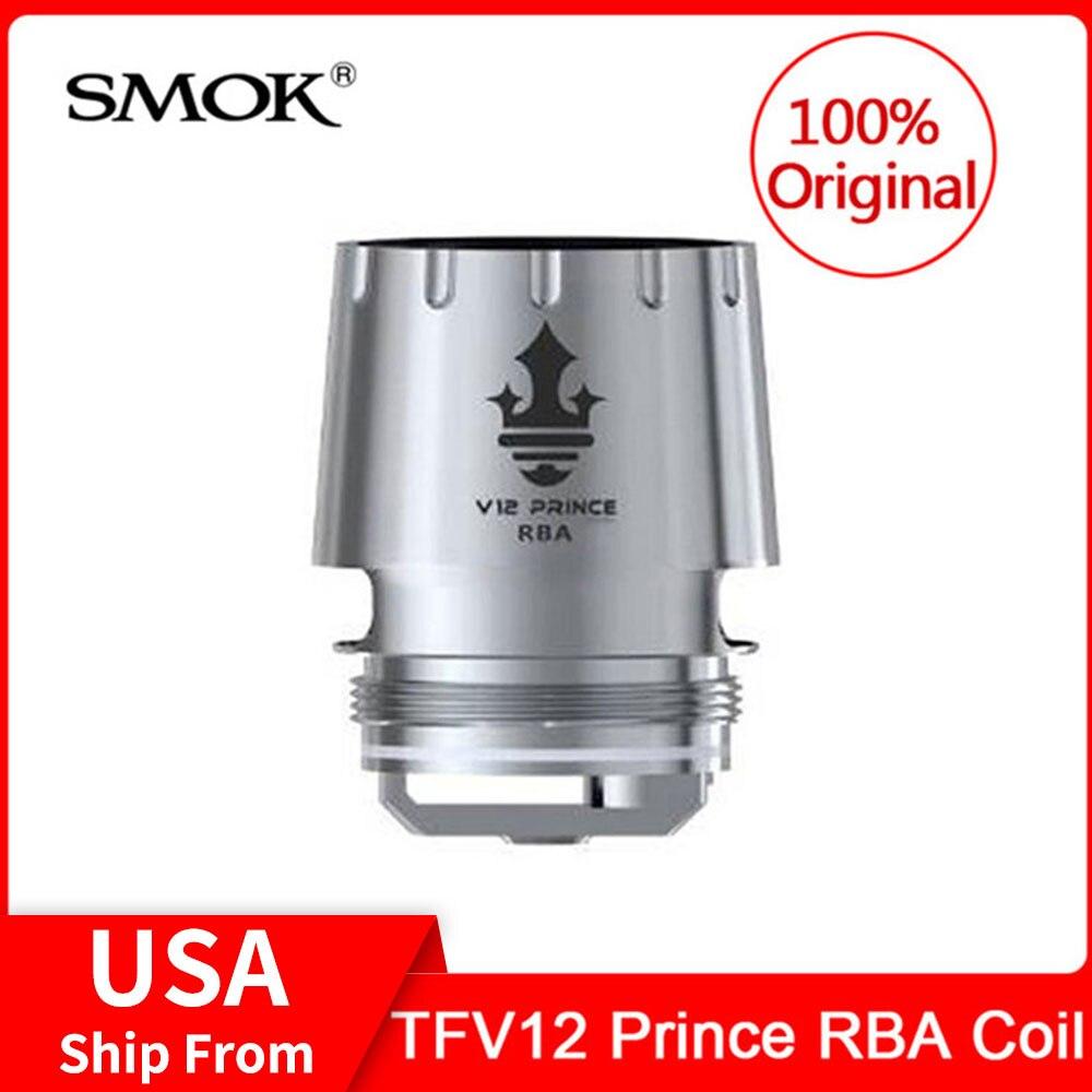 Original SMOK TFV12 PRINCE RBA Coil 0.25ohm resistance designed for SMOK TFV12 Prince Tank DIY RBA Electronic Cigarette Cores база tfv12