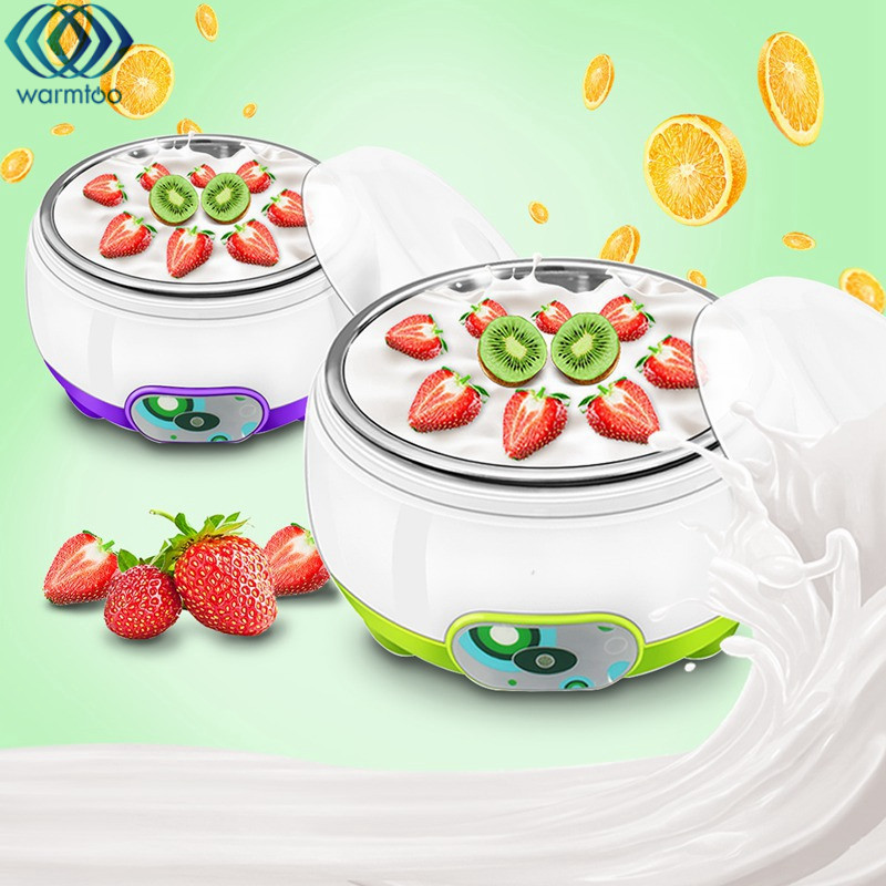 1L Automatic Yogurt Maker Machine Stainless Steel Liner Electric Multifunction 220V US Plug Yogurt Machine DIY Tool Kids Gift hot selling electric yogurt machine stainless steel liner mini automatic yogurt maker 1l capacity 220v