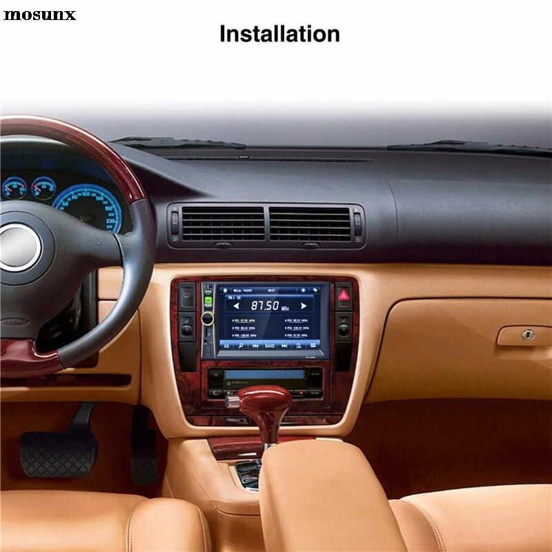 mosunx двойной Дин 7-дюймовый экран 6.6 дюймовый HD Сенсорный экран mp5 MP3-плеер радио Bluetooth USB и AUX горячие продажи падение доставка