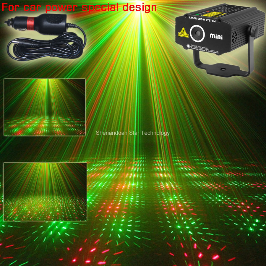 Car used plug R&G moving whirlwind laser Projector 2 patterns Gobo Light field outdoor garden hillside Park Party Light Show CR2 new mini 4in1 patterns sunflower whirlwind r