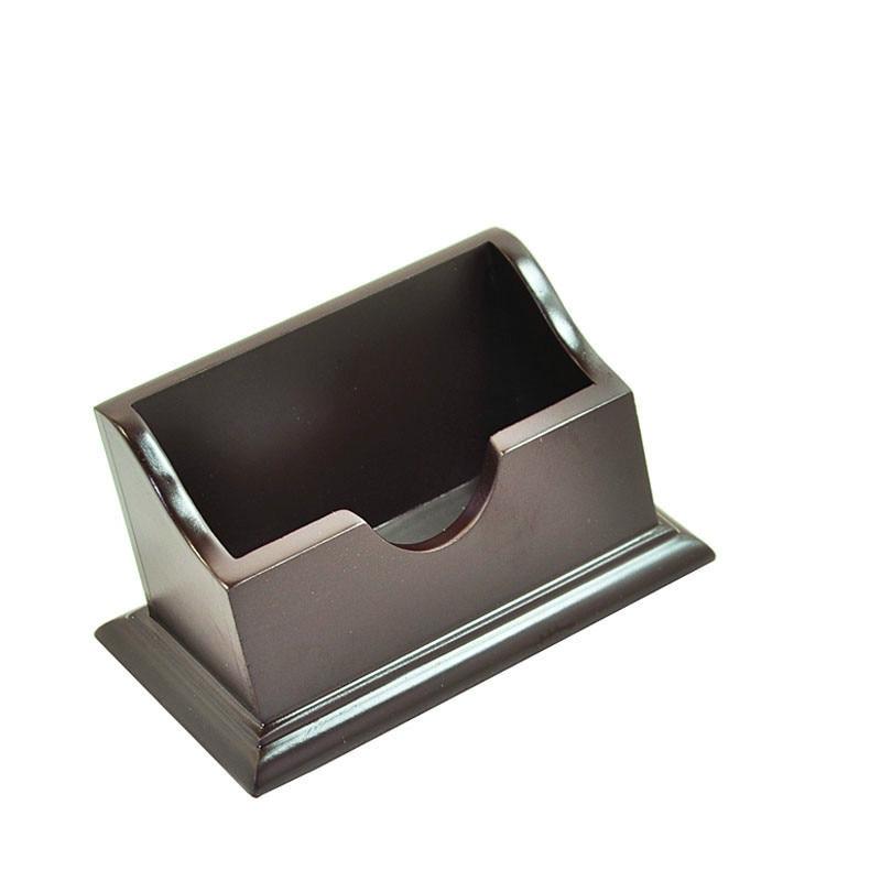Wooden Business Name Card Holder Name Card Box Wooden Desktop Fashion Ornaments Plastic Id Holder On Desk