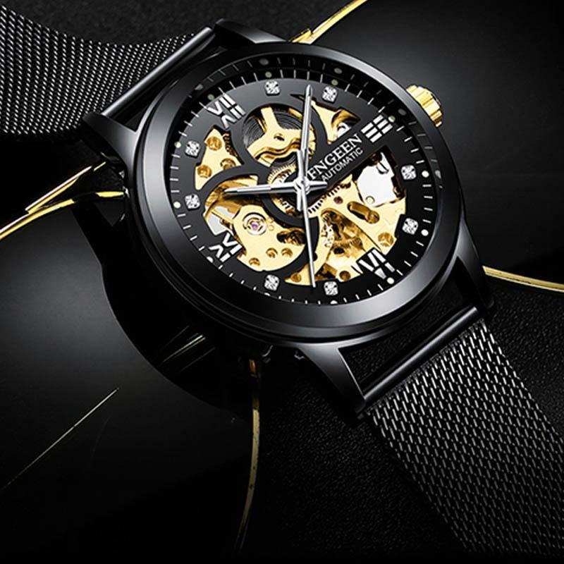 New Arrival Luxury Men Mechanical Watches Waterproof Men Watches Business Watches Tourbillon Hollow Watches