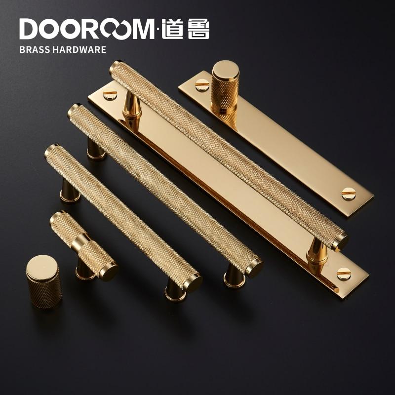 Dooroom Brass Furniture Handles Gold Black Modern Wardrobe Cabinet Dresser Cupboard Drawer Pulls Light Luxury Knobs