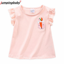 Jumpingbaby 2019 T-shirt Girls Tops Kids Tshirt Camiseta Princesas Koszulka T shirt Girl Clothes Tee Enfant Summer Top New