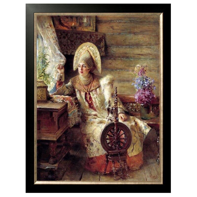 DIY DMC 14ct Croce stampati stitch Per Il Ricamo bella donna Home Decor Mestieri Handmade