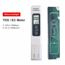 2018 3 IN 1 Water Quality Tester EC TDS PPM Temperature Meter LCD Conductivity Detection Pen Digital Portable Filter Tool