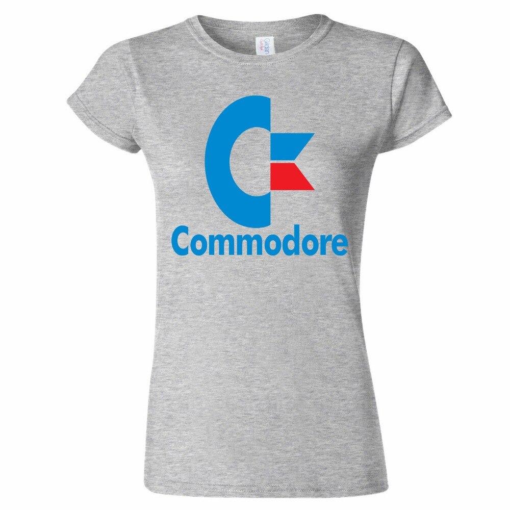 Продвижение 2017 бросились Blusa Camisetas Единорог Tee4u Пользовательские Футболка дизайнер 100% хлопок Commodore 64 Вдохновленный О-образным вырезом офис ...