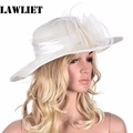 Women Summer Hat Wide Brim Floppy Hats Floral Feather Kentucky Derby Church Dress  Sun Hat for Women Beach Sun Hat A340
