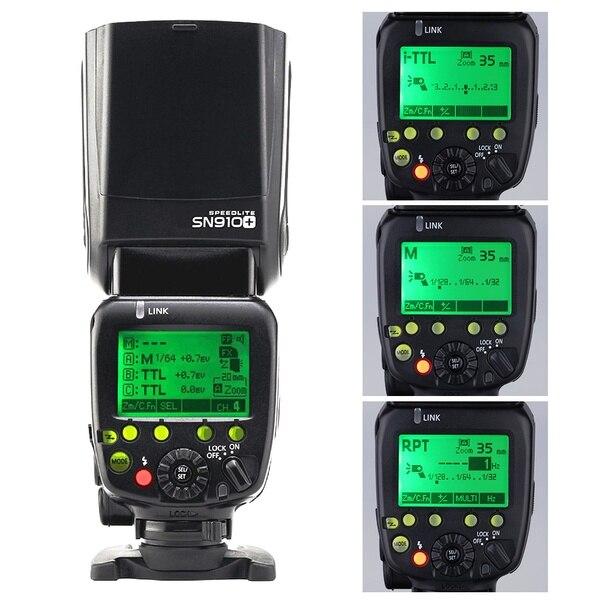 Shanny SN910+ Camera Flash Master,High Speed Sync 1/8000s,GN60 i-TTL Flashgun Speedlite for Nikon DSLR Camera and Nikon SB910
