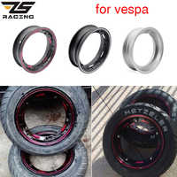 ZS Racing for Piaggio Vespa PX LML T5 PX125 150 200 T5 ET3 10 Inch Motorcycle Scooter Aluminum Wheel Rims with Inflating Valve