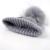 2017 Bola Pompom Gorros de Pele de Guaxinim 100% das Mulheres de Inverno Beanie Chapéu feito malha De Lã Skullies Cap Senhoras Malha Chapéus Para As Mulheres capô