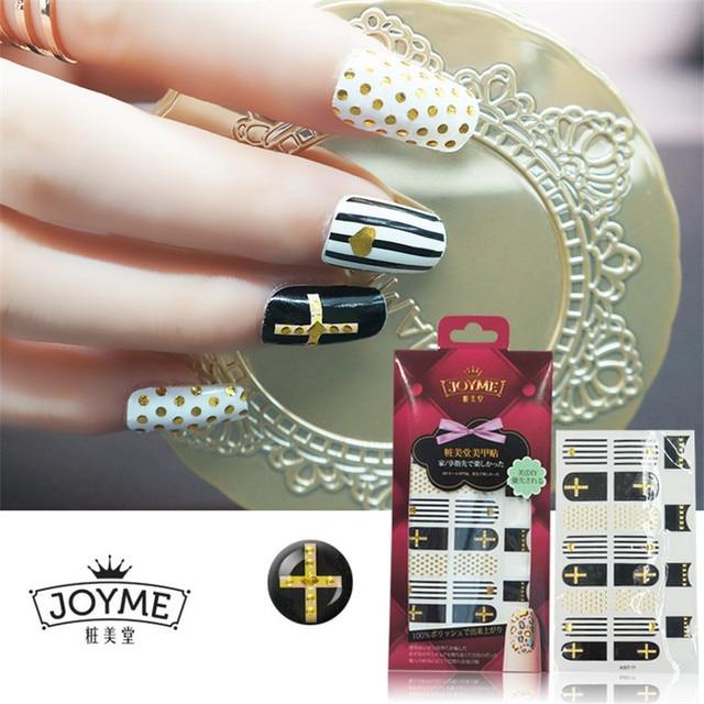 New Arrival Cross Nail Art Stickers Decal Metallic Nail Wrap Strips  Manicure Women Beauty Nail Decorations - New Arrival Cross Nail Art Stickers Decal Metallic Nail Wrap Strips