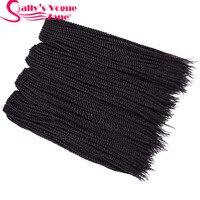 5packs Lot 18 Sallyhair Senegalese Crochet Twist Braids Hair 2X Crochet Braids 30Roots Pack 10 Colors
