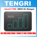 Abierto original alcatel y900 4g + cat6 300 100mbps 4g lte router wifi con ranura para tarjeta sim led bolsillo hotspot móvil