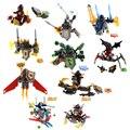 8Pcs Nexus Knights Building Block Axl Clay Macy Lance Aaron Jestro Toy Figures Future Knight Bricks For Children