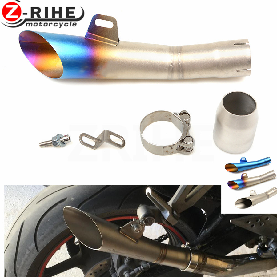 цена на for Universal 36-51mm Motorcycle Accessories cnc Exhaust Stainless Steel Motorbike Exhaust Pipe for Triumph Daytona 675 Speed Tr