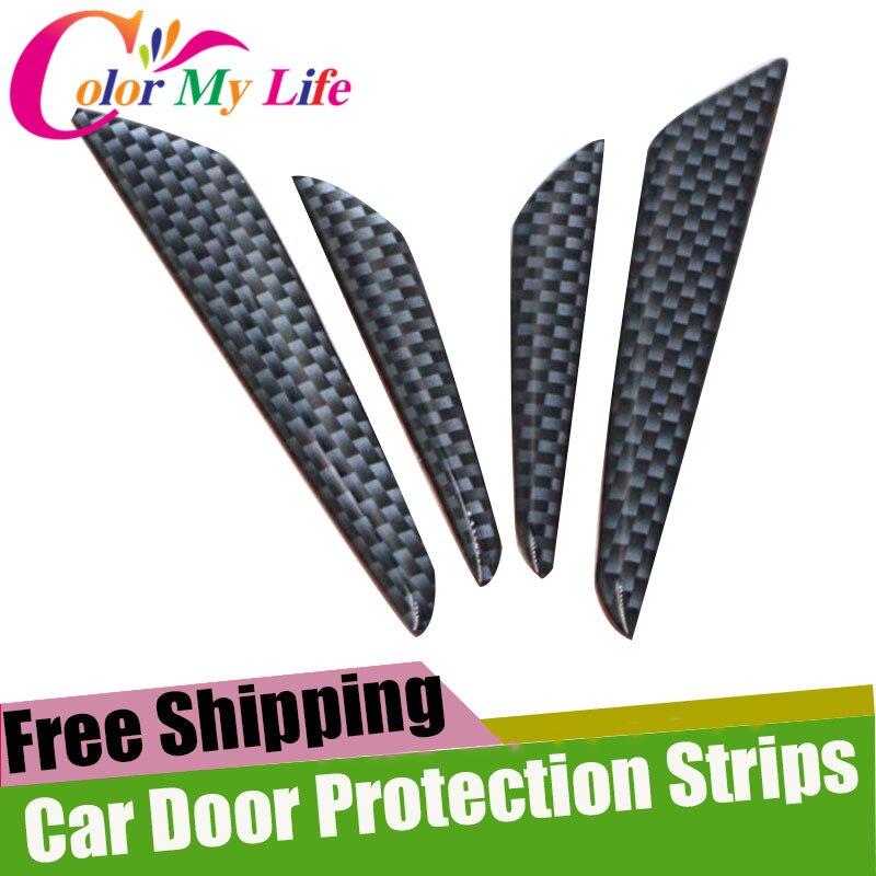 4Pcs/Set Car Door Stickers Door Protection Strips Sticker For Nissan X-Trail Xtrail T31 T32 Qashqai J10 J11 Juke Tiida Murano автомобильный dvd плеер zhoon android 4 2 2 dvd gps xtrail nissan x trail