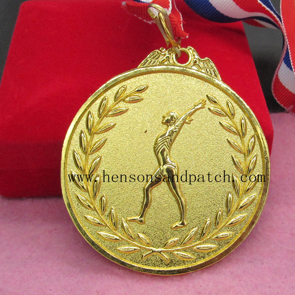 Custom best quality sports meet gold silver bronze medal gymnastics medal