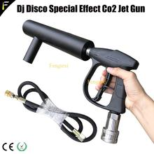 Dispositivo de jato co2 crio arma canhão único tubo líquido co2 & gelo switchable arma dj clube barra handheld legal co2 jet canhão fumaça armas