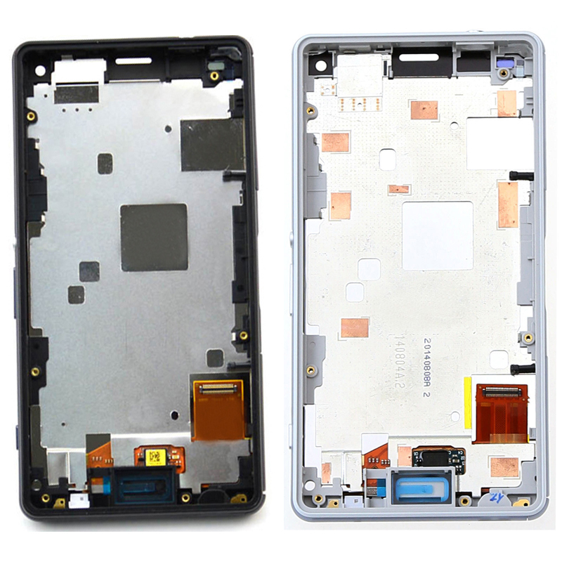 For Sony Xperia Z3 Mini Compact D5803 D5833 Touch Screen Digitizer Sensor Glass Panel + LCD Display Monitor Assembly Frame