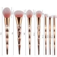 Новые поступления 7/10 шт. набор кистей для макияжа пудра Eye Shadow лица Румяна смешивания Косметика Красота Макияж Brush Tool Kit