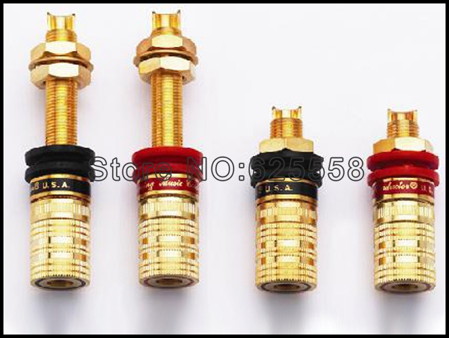 Viborg-816-S Two Pair Viborg Gold plated  speaker jack RCA Socket connector for CD player amplifier free shipping 4 colour gold plated rca socket rca connector 8pcs lot
