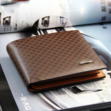 Europe and the United States casual mens wallet plaid multi-card multi-function short US dollar package