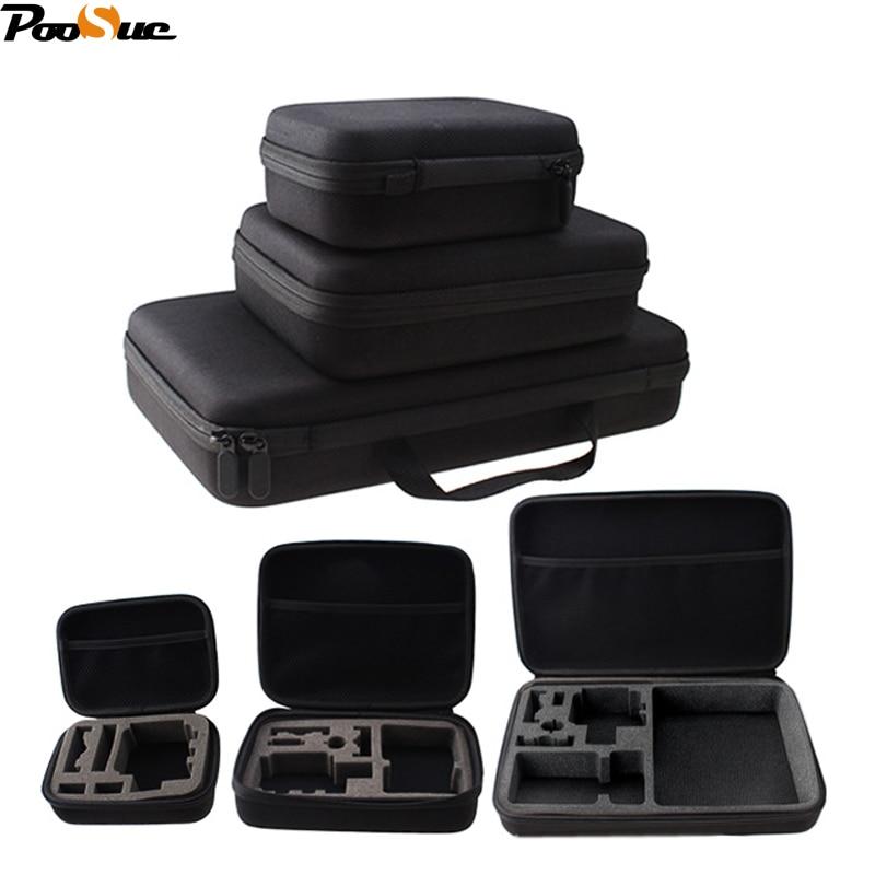Collection camera Case For Gopro Hero 5/3/4 Storage bag box for Sj4000 SJ6000 SJ8000 for Xiaomi Yi Mijia 4K+ SOOCOO C30 EKEN H9