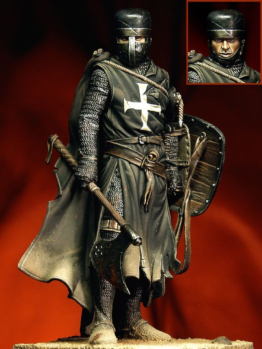 1/18 Knight Hospitaller 90mm   Historical Toy Resin Model Miniature Kit Unassembly Unpainted