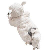 Newborn Baby Girl Boy White Flannel Hooded Romper Toddler Infant Unisex Baby Cartoon Animal Long Sleeve