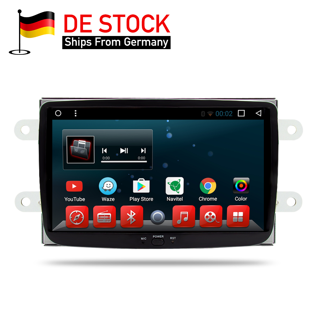 Android 7.1 RAM 2G Car DVD Stereo Player GPS for Renault Duster Dacia Sandero Logan Dokker Auto Radio RDS GPS Glonass Navigation for dacia logan saloon ls