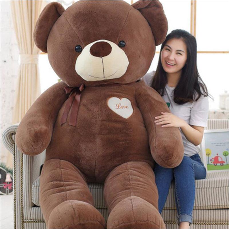 160CM Giant Size Teddy Bear Stuffed Plush Teddy Bear Christmas Gift Big Size Teddy Bear Doll Plush Toy For Birthday Gift
