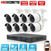 AHD CCTV Системы 1.3 Мп 960 P День Ночь ИК 8 камер Высокое разрешение Товары теле и видеонаблюдения 8ch 1080n 1080 P 5 В 1 AHD DVR CCTV Системы